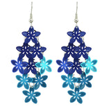 cute colorful hollow flower shape drop earrings for women
