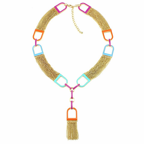 unique long tassel statement necklace & pendant for women