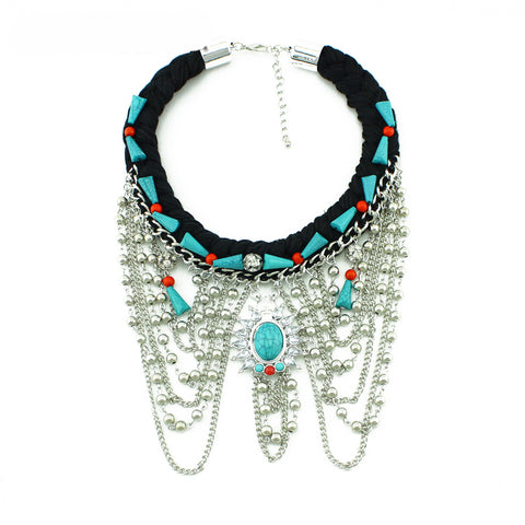 vintage tassel statement necklace & pendant for women