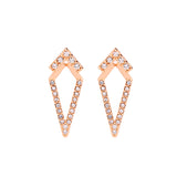 trendy geometric rhinestone drop earrings for women