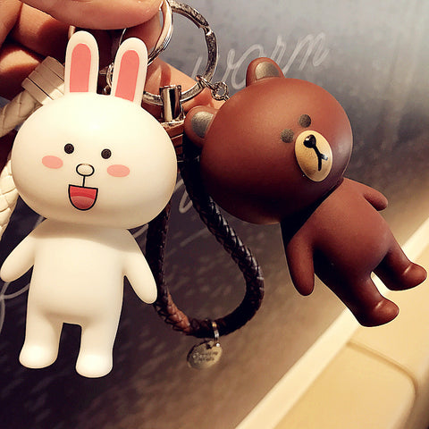 cute rabbit & bear key chain bag for women