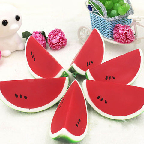squishy watermelon phone strap charm key chain