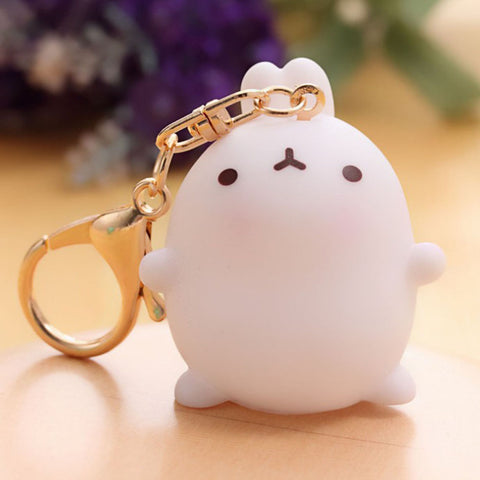 cute fat rabbit bag pendant key chain