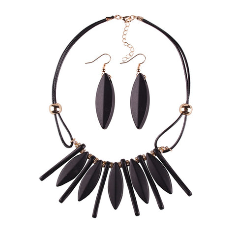 trendy geometric acrylic statement jewelry set for women