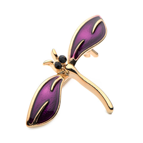 cute little enamel dragonfly brooch pin for women