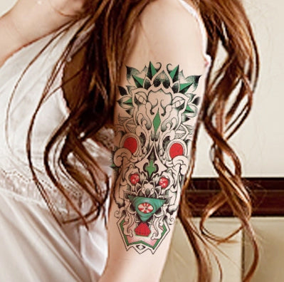colorful tribal pattern waterproof temporary tattoo sticker
