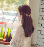 elegant leaves shape metal hair band for women
