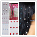 trendy colorful crystal hair drilling for women