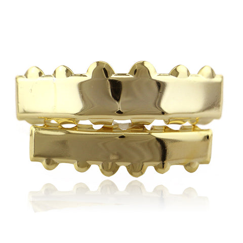 hip hop style smooth plane teeth grillz jewelry