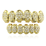 hip hop style heart shaped iced out rhinestone teeth grillz