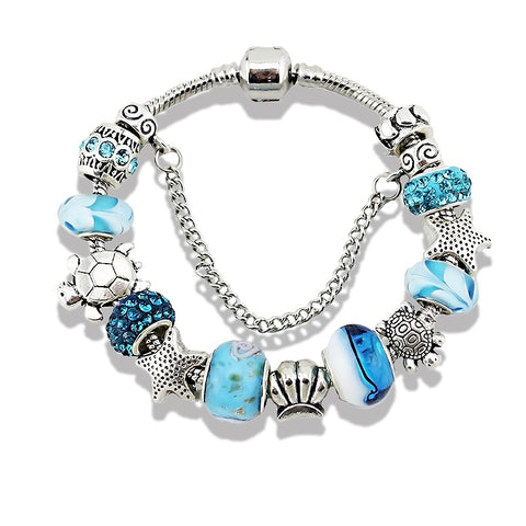 ocean style starfish charm bracelet & bangle for women