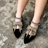 2 pcs luxury rhinestones bow tie charm shoe anklet for women