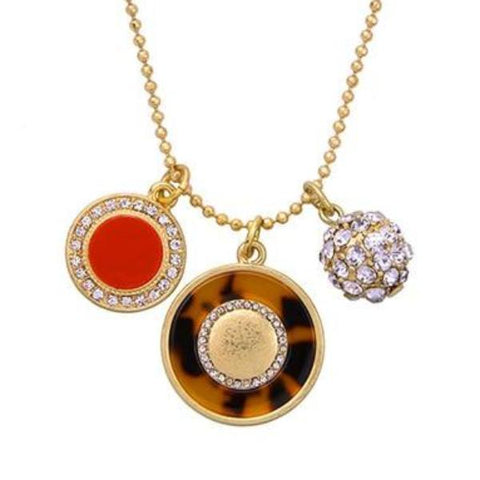 trendy crystal ball & rounds pendant necklaces for women