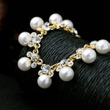 elegant imitation pearls statement necklace for women