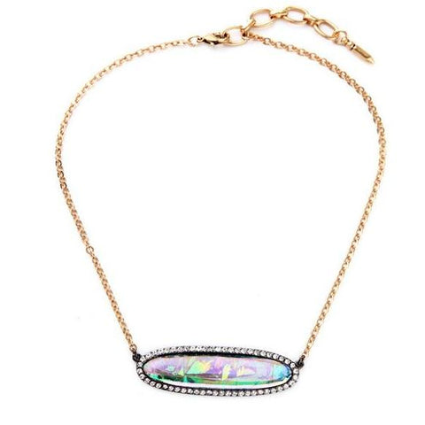 trendy colorful imitation gem statement necklace for women