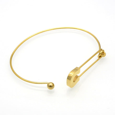 simple stainless steel metal pin wire bracelet
