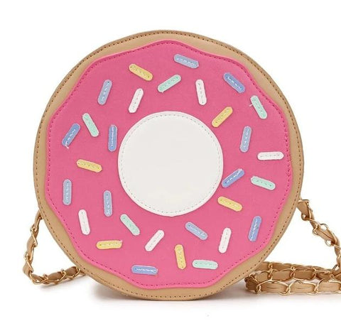 cute colorful donat shaped chain shoulder bag for women