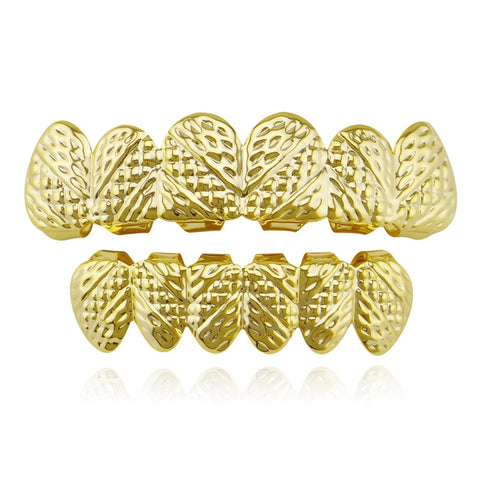 hip hop style bumps carved teeth grillz jewelry