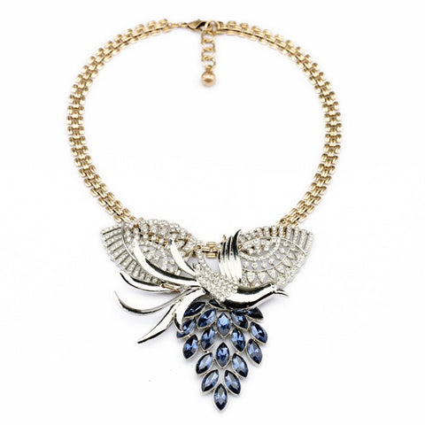 trendy resin phoenix shape statement necklace for women
