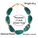 trendy big resin beads statement necklace for women