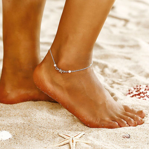 trendy tibetan silver plated hollow plum flower anklet for women