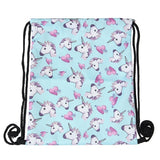 cute unicorn prints backpack sack bag for women