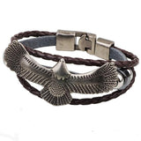 hand made wristband eagle buckle leather bracelet