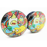 adventure time  black acrylic ear plugs earrings