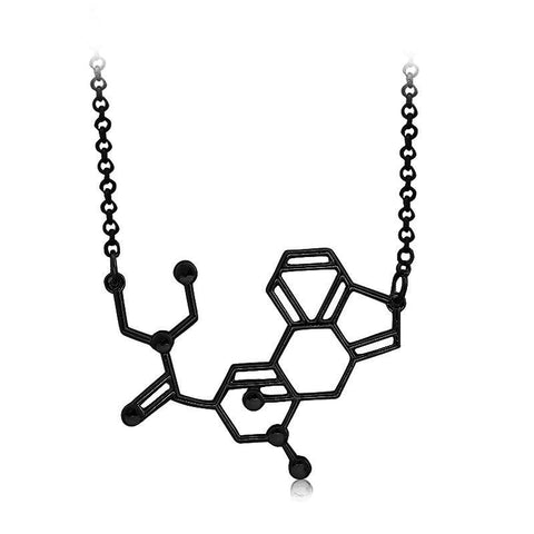 acid chemical molecule structure pendant necklace