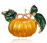 cute enamel pumpkin shaped brooch pin for women