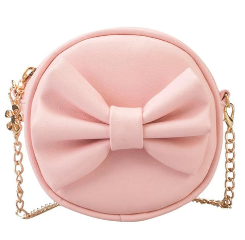 cute bow tie shaped leather mini shoulder bag for women