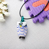cute colorful glass owl shape jewelry set for women