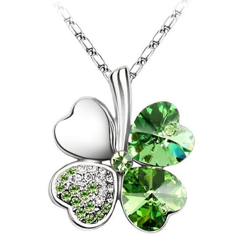 crystal four leaf clover from swarovski pendant necklace