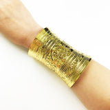 curved ethnic cuff bracelet statement bangle for women