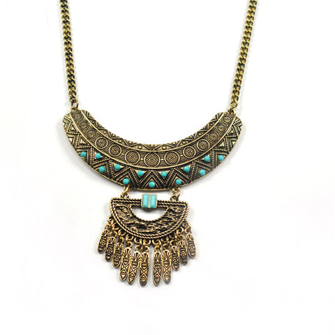 bohemian maxi statement tassel necklace for women