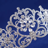 luxury crystal rhinestone royal princess tiara crown hair jewelry