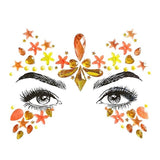 trendy crystal face mask temporary tattoo sticker for women