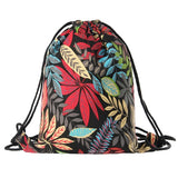 trendy colorful 3d printing canvas backpack sack bag