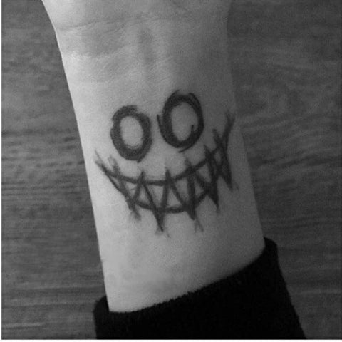 cool scary face pattern waterproof temporary tattoo sticker