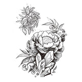 cool big roses flowers pattern temporary arm tattoo sticker