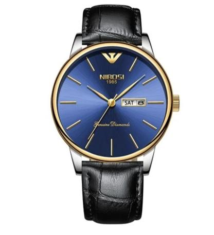 elegant stainless steel quartz wrist watch for men