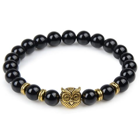 buddha beads helmet charm natural stone bracelet for men