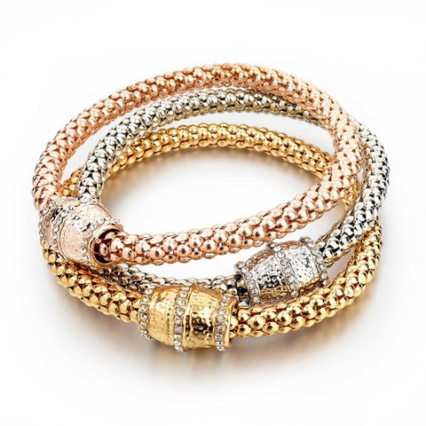 gold color bracelet & bangle bracelet for women - very-popular-jewelry.com