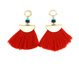 bohemian long tassel earrings for women - very-popular-jewelry.com