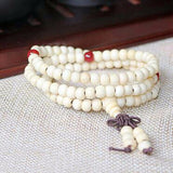 natural sandalwood buddhist mala bracelet