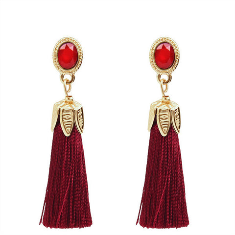 drop statement fringe earrings for women