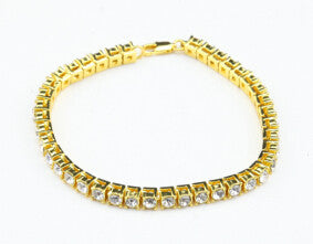 clear rhinestone bracelet men's hip hop style - very-popular-jewelry.com