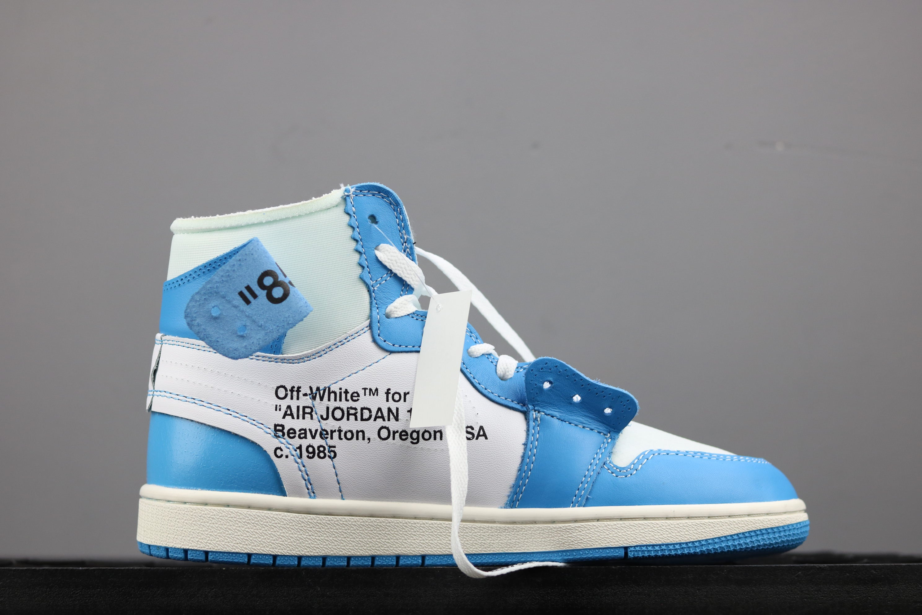 5c6f190fab3a9a Air Jordan 1 - Off White - Powder Blue - SoleMate