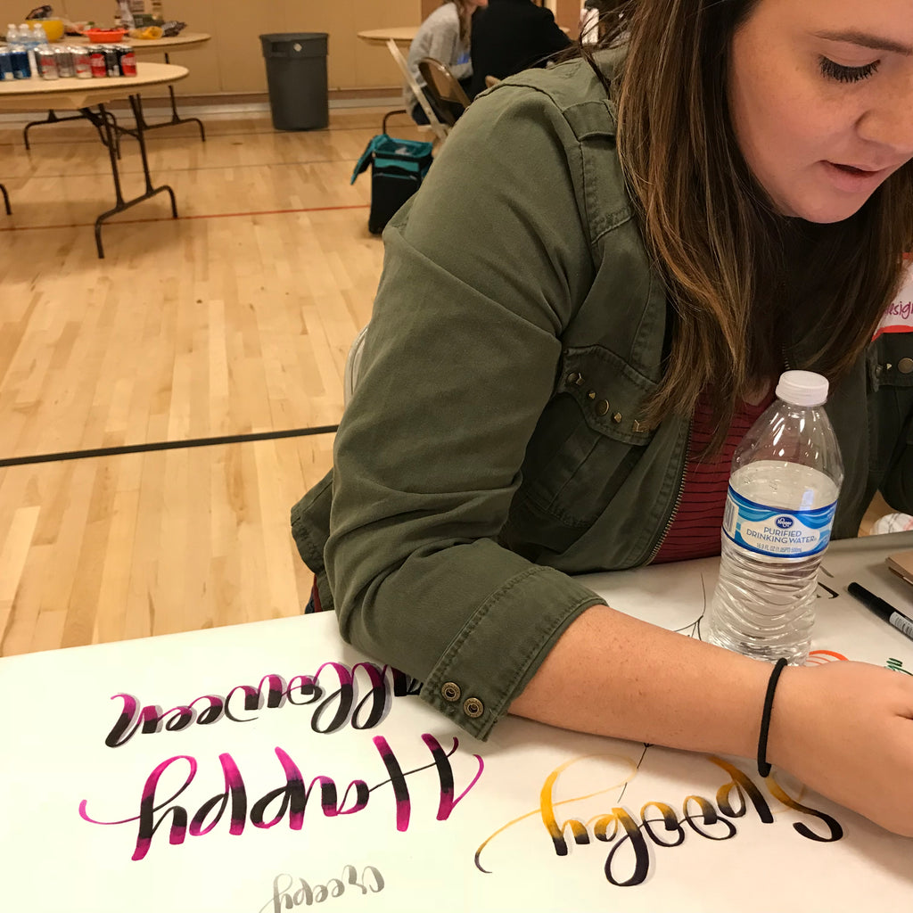 How to teach yourself brush lettering