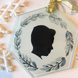 Personalized Glass Christmas Ornament
